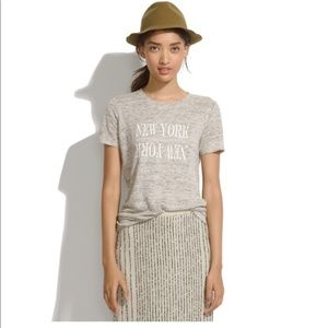 Madewell New York Gray Linen Tee
